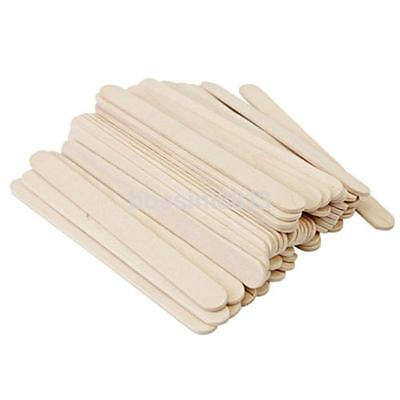 50Pcs/Pack Birch Wooden Waxing Spatula Tongue Depressor For Oral Examination uk