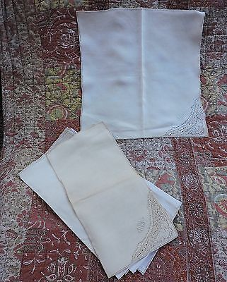 Antique Linen Napkin 6 Matching 15.5 Inches Square