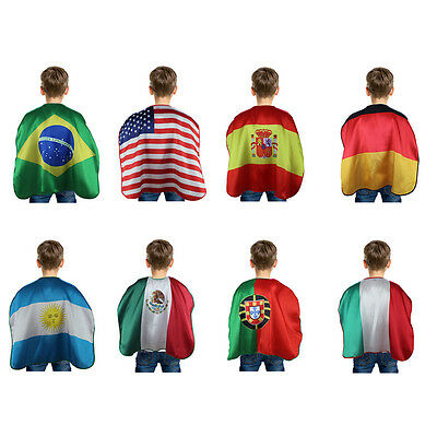 Chic Flag Pattern Soccer Fan's Cheer Cape World Cup Olympic Halloween Party Cape
