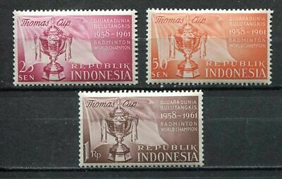 38147) INDONESIA 1958 MNH** Thomas cup 3v - Badminton