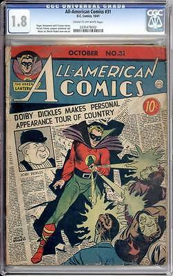 All American Comics # 31  Doiby tours country ! CGC 1.8 rare Golden Age book !