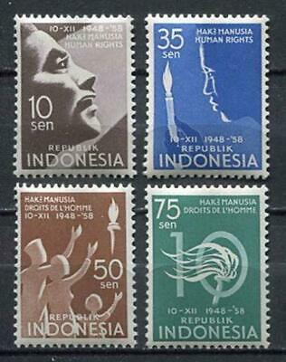 38152) INDONESIA 1958 MNH** Human rights 5v