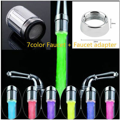 Romantic Color Head Home Bathroom 7 Colors Changing LED Shower Water Glow Light