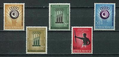 38157) INDONESIA 1960 MNH** Youth sports 5v