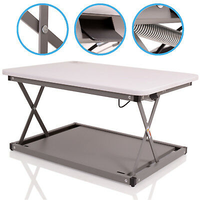 75mm - 350mm ADJUSTABLE COMPUTER PC LAPTOP MONITOR SIT STAND WORK STATION RISER