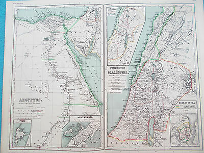 Map of Ancient Egypt & Palestine. 1892. Kiepert. Original. MIDDLE EAST.