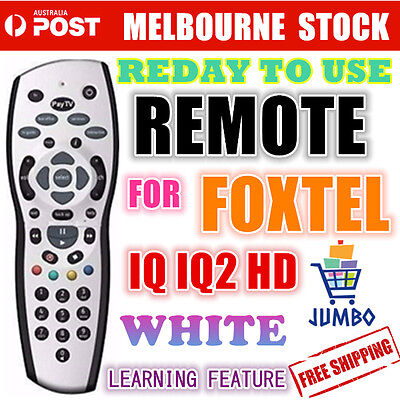 FOXTEL REMOTE Control Replacement For FOXTEL IQ IQ2 HD & PAYTV BRAND NEW Silver
