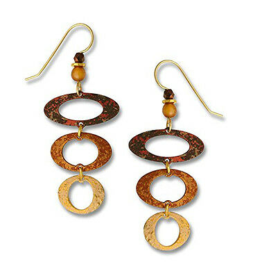 Adajio Earth Brown & Sand Descending Oval EARRINGS Gold Filled Earwires - Boxed