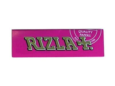 Rizla Pink Rolling Papers (White Paper) Standard size (1/2/5/10/20/50/100)pcs