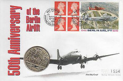 Berlin Airlift  Medallion FDC Booklet Pane 1st Class Stamp x 4 with Berlin Airli