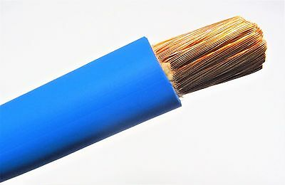 2/0 Welding Battery Cable Blue 600V Usa Epdm Jacket  Heavy Duty Copper 75' Ft