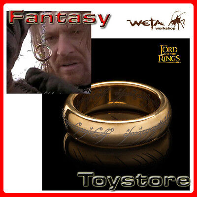 Lord of the Rings Der eine Ring Gold Plated Tungsten Carbide Weta Cave 20.7 mm