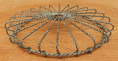 """Very Nice Antique / Vintage 6"""" Round Twisted Wire Form Trivet - Ships for $4.95"""