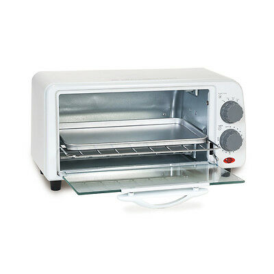 2-Slice Toaster Oven Countertop Home Appliances Kitchen Accessories Bake Food