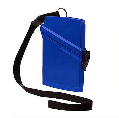 Witz Dry Box Blue Passport Locker with Lanyard and Quick Release Clip