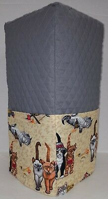Quilted Beach Cats Blender Cover w/4 Pockets (2 Options Available) READY TO SHIP