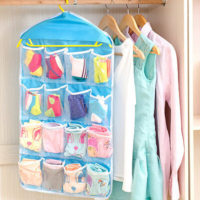 16 Pockets Closet Door Home Wall Hanging Organizer Storage Stuff Bag Pouch NEW