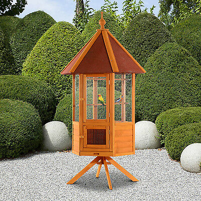 PawHut 2m Large Bird Parrot Cage Aviary CockatooFinch Macaw Wooden Pet Supplies