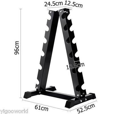 Vertical Dumbbell Rack 6 Pair Storage HEX WEIGHT STAND HOME GYM FITNESS Exercise