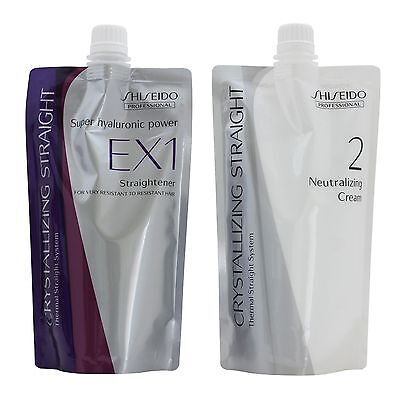 Straight Hair Perm Cream Shiseido Crystallizing For Thick Curly Hair EX1+2 400g