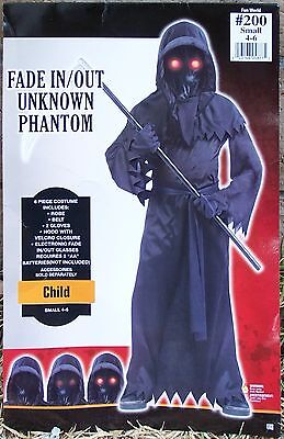 Unknown Phantom 6 Piece Costume Dress with light-up glass for kids 4-6 years
