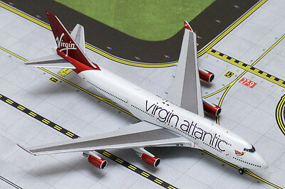 "Gemini Jet Virgin Atlantic 747-400 ""ruby Tuesday"" 1:400 Scale Diecast Model"