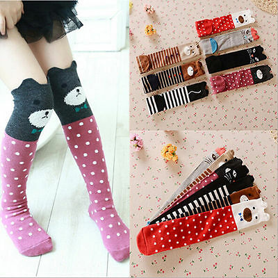 3-12 YR Baby Kids Toddlers Girls Knee High Socks Tights Leg Warmer Stockings New