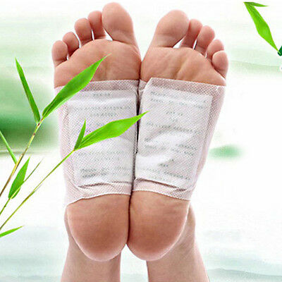4x Foot Patch With Tape Stickers Toxins Detox Adhesive Pads Detoxify Treatment