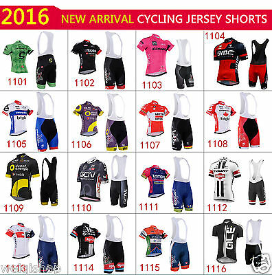2016 new Outdoor Wear Bike Short Sleeve Men Cycling Suits Jersey BIB Shorts Set