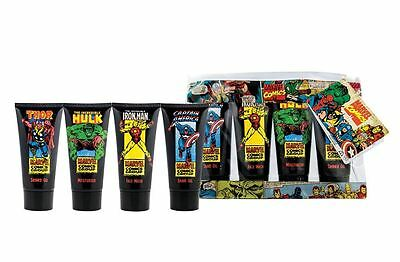 Marvel Comics Travel Bag 4 Piece Gift Set For Him Body Care Men
