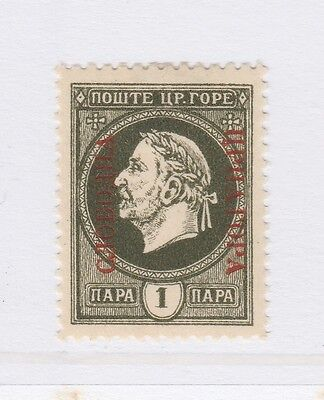 A2P46 MONTENEGRO PROVISIONAL GOVERNMENT NOT ISSUED STAMP 1921 1pa MH*