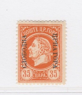 A2P46 MONTENEGRO PROVISIONAL GOVERNMENT NOT ISSUED STAMP 1921 35pa MH*