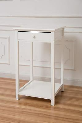 Night Stand With Drawer And Shelf Bedside Table Bedroom Table