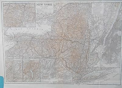 Map of New York & Manhattan.1911. Encyclopedia Britannica. Original.