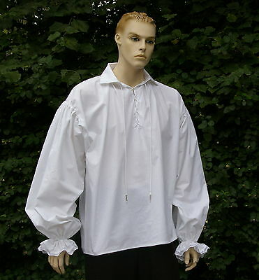 Mens Medieval / Georgian Rennaisance poets pirate reenactment shirt 100% cotton
