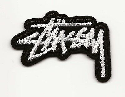 Stussy Embroidered Patch Iron-on Motif 5.3cm x 3.5cm Art Good Luck Magic