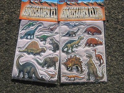 72  Sheets Of Dinosaur Stickers (Party Bags / Lucky Dips / Educational)