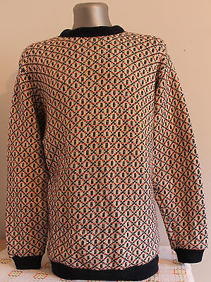 Mens ORE 75% WOOL Nordic Norway Cardigan Jumper Telemark Dale Of. Size L