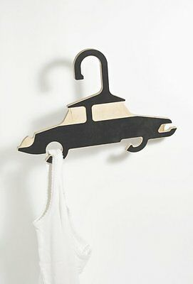 Set Of 5 Plywood Childrens Clothes Hangers in Classic Vehicle Form