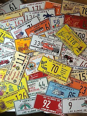 Collector License Plate Lot of 200 Different Illinois Tags Special Event Craft