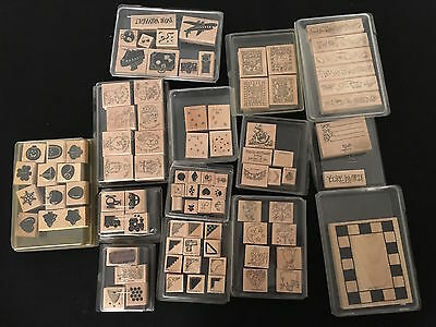Stampin' Up Lot of 14 Sets Plus Stampin' Around Handles And Wheels