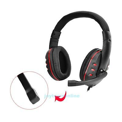 Portable Wired Gaming Headset Headphone Earphone w/ Mic for Playstation 4 PS4
