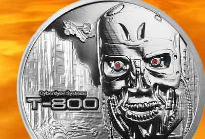 Terminator T-800 1 Oz .999 Silver Proof Round With COA & Individually Numbered