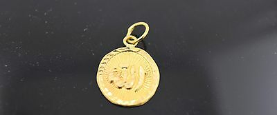 22k 22ct Solid Gold Allah islam muslim pendant locket p260