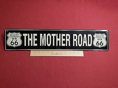 Route 66 Mother Road Metal Sign Display Motorcycle