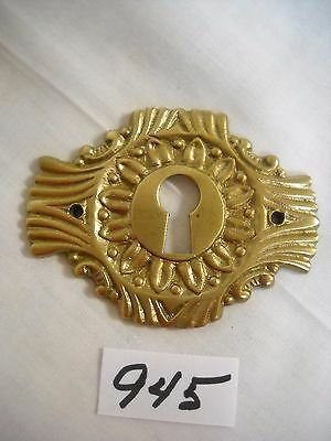 Antique Eastlake Style Cast Brass Key Hole Cover