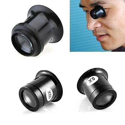 5X 10X Monocular Magnifying Glass Loupe Lens Jeweler Tool Eye Magnifier