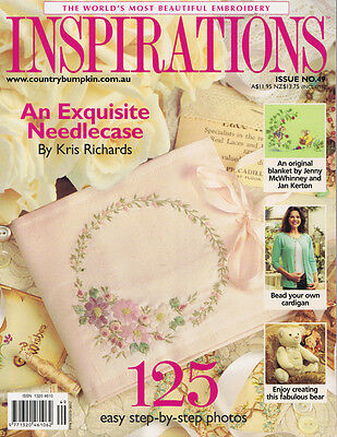 INSPIRATIONS MAGAZINE issue 49 RARE issue The Worlds Most Beautiful Embroidery