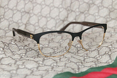 NEW authentic GUCCI Eyeglasses GG 4274 GXN 100% Authentic 53mm Matte Black