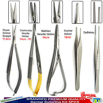 Micro Surgery Tools Castroviejo Needle Holder Noyes Micro Scissors+DeBakey Plier